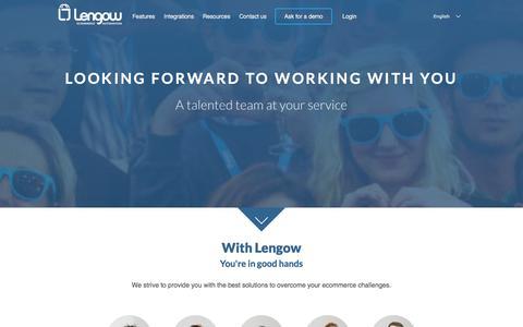 Screenshot of Team Page lengow.com - Meet the Lengow team - captured Jan. 28, 2016
