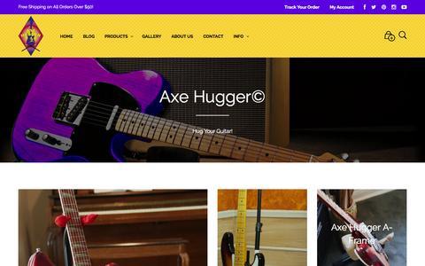 Screenshot of Home Page axehugger.com - Home | Axe Hugger - captured Sept. 30, 2014