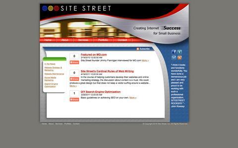 Screenshot of Blog sitestreet.com - Austin Web Design - Web Hosting - Search Engine Optimization - Social Media - captured Jan. 11, 2016