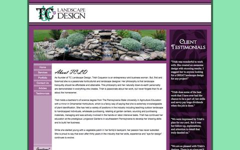 Screenshot of About Page tc-landscapedesign.com - TC-Landscape Design: About TC-LD - captured Aug. 17, 2016