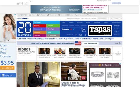 Screenshot of Home Page 20minutos.es - 20minutos.es - El medio social - Última hora, local, España y el mundo - captured Jan. 13, 2016