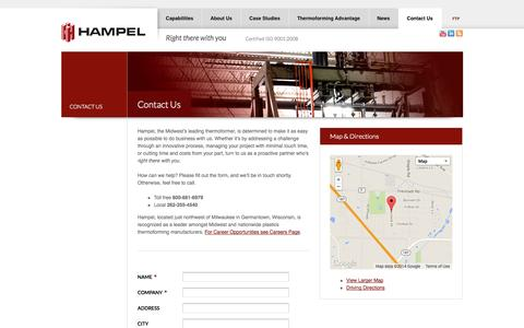 Contact Us | Thermoformed Plastics Manufacturing | Hampel