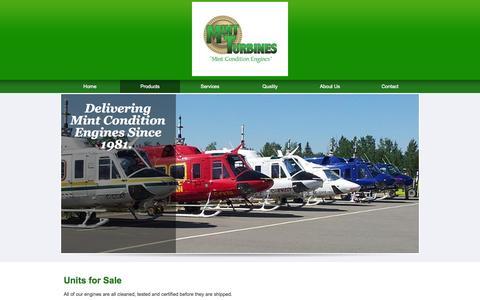 Screenshot of Products Page mintturbines.com - Technicians & Repairs | Stroud, OK - captured Oct. 7, 2014