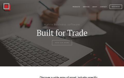 Screenshot of Home Page matrixbs.me - matrix business software - captured Sept. 6, 2015