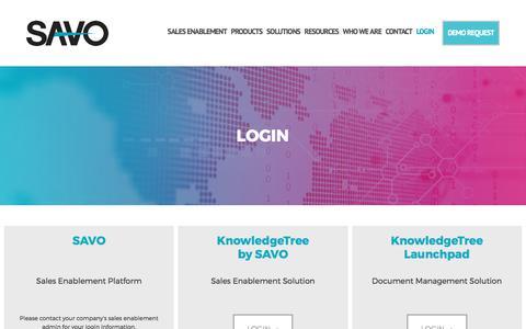 Login - SAVO Sales Enablement