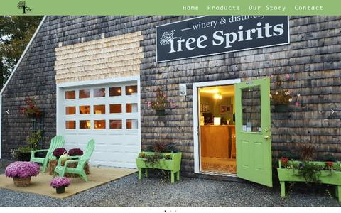 Screenshot of Home Page treespiritsofmaine.com - Tree Spirits of Maine - captured Nov. 18, 2018