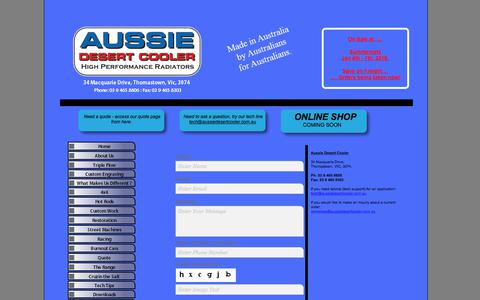 Screenshot of Contact Page aussiedesertcooler.com.au - Contact Us - captured July 31, 2018