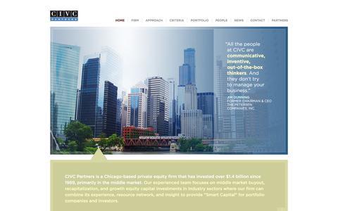 Screenshot of Home Page civc.com - CIVC Partners - captured Oct. 1, 2014