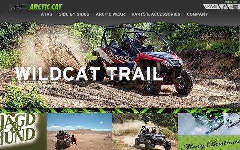Screenshot of Home Page arcticcat.eu - Arctic Cat - captured Jan. 26, 2015