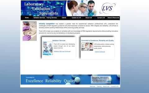 Screenshot of Home Page labvalspec.com - LVS_new - Home - captured Oct. 1, 2014