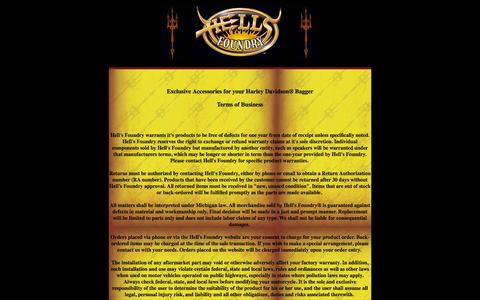 Screenshot of Terms Page hellsfoundry.com - Hell's Foundry | Admin | Terms - captured June 23, 2016