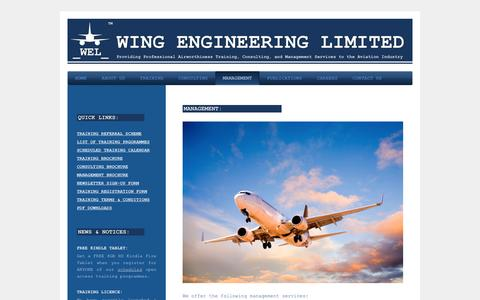 Screenshot of Team Page wingengineering.co.uk - Wing Engineering Limited - MANAGEMENT - captured Feb. 28, 2016