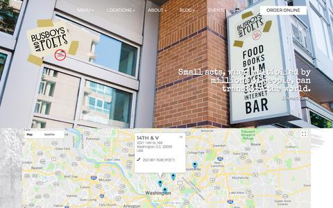 Screenshot of Locations Page busboysandpoets.com - Locations | Busboys and Poets - captured July 14, 2018