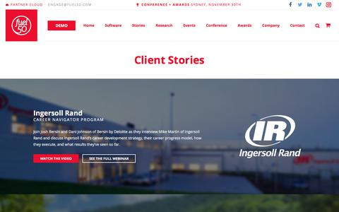 Screenshot of Case Studies Page fuel50.com - Client Stories by Fuel50 - captured Nov. 21, 2017