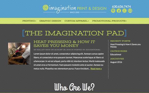 Screenshot of Blog imaginationpad.com - Blog - Imagination Print & Design - captured Oct. 14, 2017