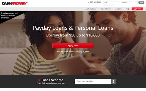 In Store & Online Payday Loans & Personal Loans in Canada