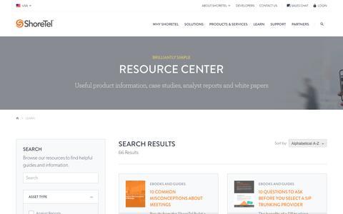 Resource Center | ShoreTel