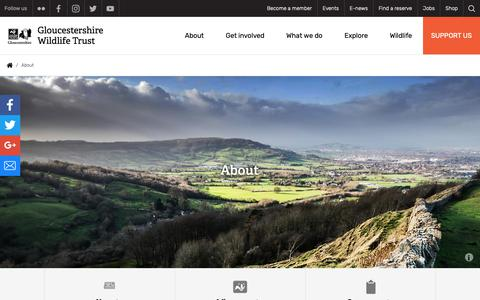 Screenshot of About Page gloucestershirewildlifetrust.co.uk - About | Gloucestershire Wildlife Trust - captured Nov. 5, 2018