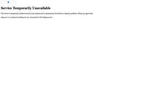 Error 503: Service Unavailable