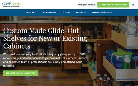 Screenshot of Home Page shelfgenie.com - Home | ShelfGenie - captured June 21, 2019