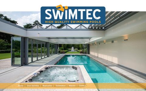 Screenshot of Site Map Page swimtec.be - Sitemap - captured Dec. 22, 2016