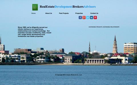 Screenshot of Home Page evansriversandcompany.com - Evans, Rivers and Company - captured Jan. 31, 2016
