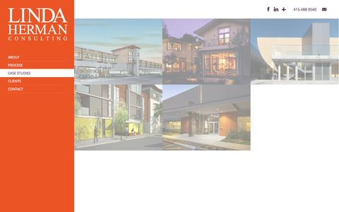 Screenshot of Case Studies Page lindahermanconsulting.com - Case Studies | Linda Herman Consulting - captured Sept. 30, 2014
