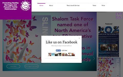 Screenshot of Home Page shalomtaskforce.org - shalom-task-force - captured Nov. 15, 2017
