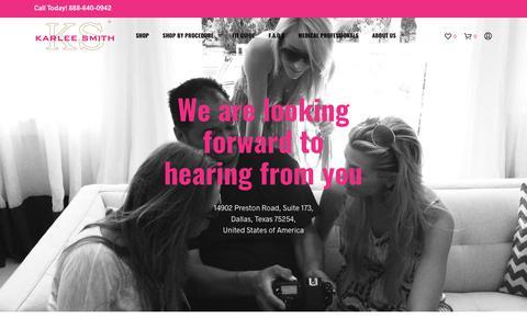 Screenshot of Contact Page karleesmith.com - Contact Us - Karlee Smith Bras - captured Sept. 20, 2018