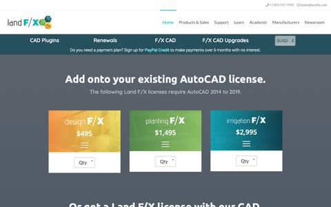 Screenshot of FAQ Page landfx.com - Purchase Land F/X - captured Dec. 7, 2018