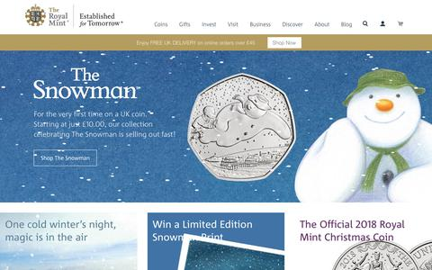 Screenshot of Home Page royalmint.com - The Royal Mint - captured Nov. 8, 2018