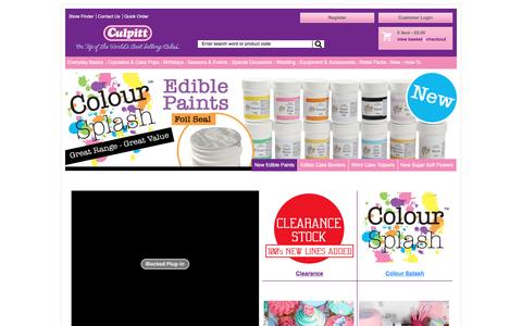 Screenshot of Home Page culpitt.com - Cake Decorating and SugarCrafting Accessories | Cake Decorating Supplier | Trade Sugarcraft and Decoration Supplier - captured Feb. 1, 2016