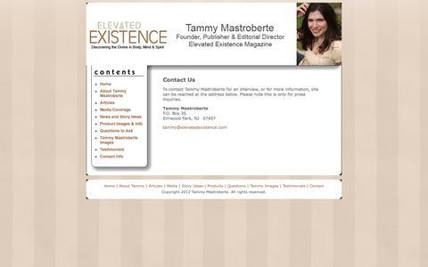 Screenshot of Contact Page tammymastroberte.com - Tammy Mastroberte: Contact Us - captured Feb. 17, 2018