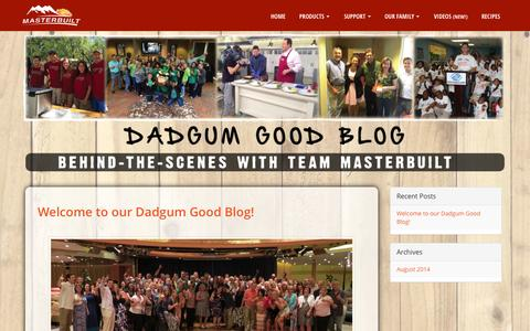 Screenshot of Blog masterbuilt.com - DADGUM Blog - captured Oct. 27, 2014