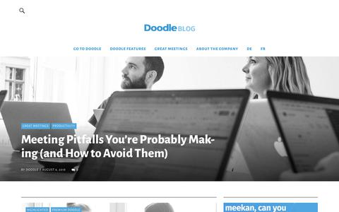 Screenshot of Blog doodle.com captured Sept. 12, 2018