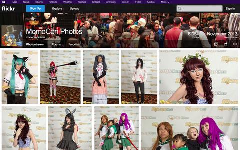 Screenshot of Flickr Page flickr.com - Flickr: momoconpictures' Photostream - captured Oct. 26, 2014