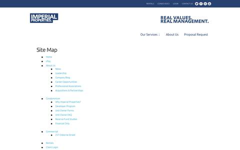 Screenshot of Site Map Page imperialproperties.ca - Site Map | Imperial Properties - captured Sept. 30, 2014