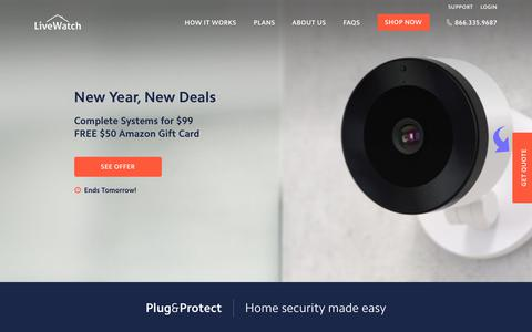 Screenshot of Home Page livewatch.com - Home Security Systems - Affordable, Customized Solutions | LiveWatch - captured Jan. 12, 2018
