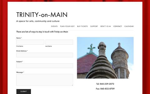 Screenshot of Contact Page trinityonmain.org - Contact — TRINITY-on-MAIN - captured Nov. 19, 2018