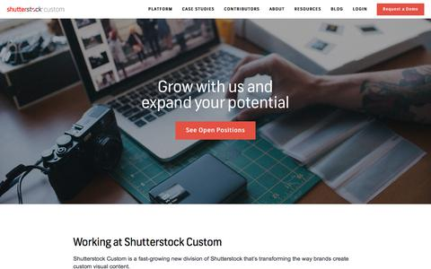 Screenshot of Jobs Page shutterstock.com - (2) New Messages! - captured Aug. 15, 2018