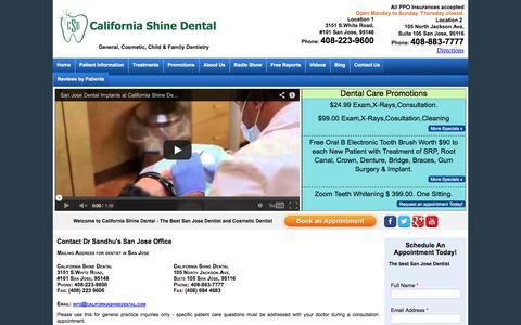 Screenshot of Contact Page Maps & Directions Page californiashinedental.com - Contact California Shine Dental | Cosmetic Dentistry, Dental Implants, Crowns, Bridges & Invisalign - captured Oct. 22, 2014