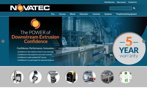 Screenshot of Home Page novatec.com - NOVATEC Plastics Auxiliaries Equipment - captured July 5, 2017
