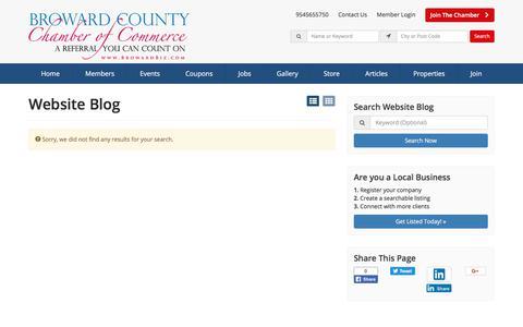 Screenshot of Blog browardbiz.com - Broward County Chamber of Commerce Blog Articles - Find Broward County Chamber Of Commerce Blog Articles - captured Oct. 11, 2017