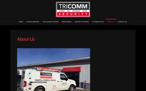 Screenshot of About Page tri-security.com - About Us | Tri Comm Security - captured Aug. 15, 2015