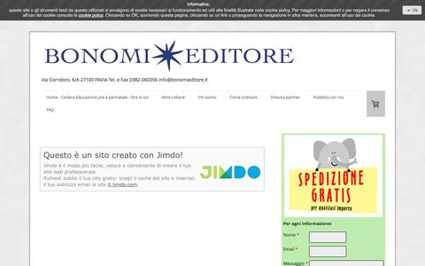 Screenshot of About Page bonomieditore.it - Informazioni legali - Benvenuti su bonomieditore! - captured Jan. 21, 2017