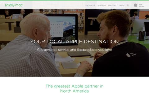 Screenshot of Home Page simplymac.com - Simply Mac - captured Jan. 13, 2016