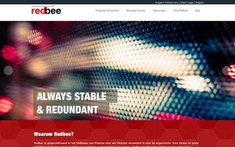 Screenshot of Home Page redbee.nl - Redbee | Full Security & Managed Hosting - captured Sept. 11, 2015