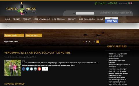 Screenshot of Blog centovigneitalia.it captured Sept. 30, 2014