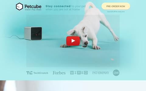 Screenshot of Home Page petcube.com - Petcube – Interactive wireless pet camera. Smart monitor for your cat or dog. - captured July 11, 2014