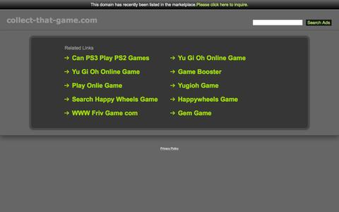 Screenshot of Home Page collect-that-game.com - Collect-That-Game.com - captured Sept. 10, 2015